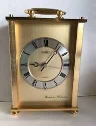 SEIKO Carriage Mantel Clock with Westminster & Whittington Chime