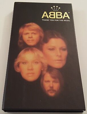 ABBA ~ THANK YOU FOR THE MUSIC ~ 4 CD BOX SET ( LONG BOX WITH BOOK)  [1994, A&M]