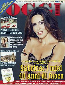 OGGI-N-15-7-APR-2004-SABRINA-i-miei-40-anni-di-fuoco-LA-LECCISO-IN-TV