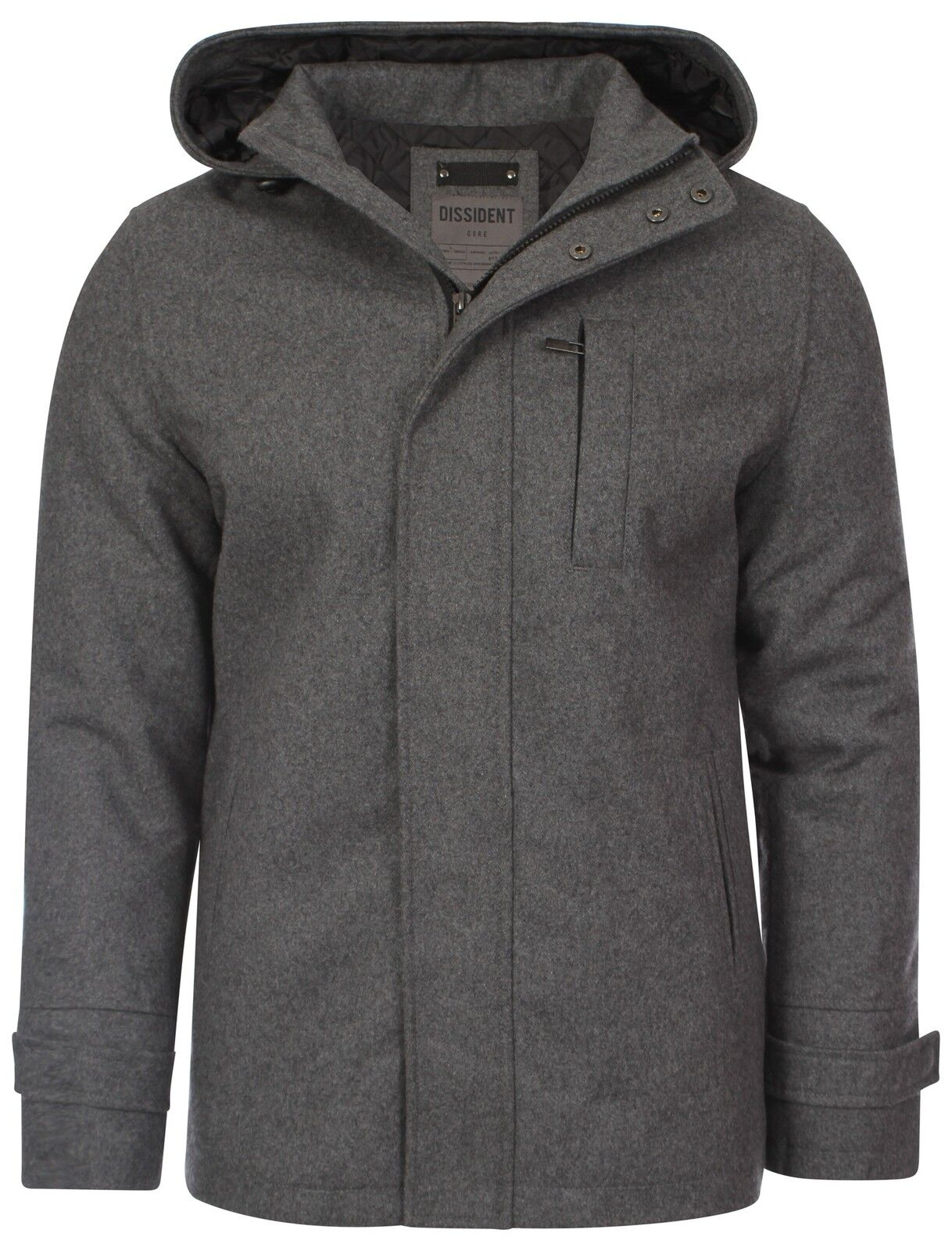 Wool Blend Zip Jacket