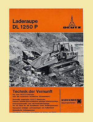 DEUTZ Laderaupe Raupenschlepper DL 1250 P  Original