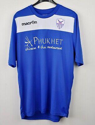 Anorthosis Famagusta #13 Home Shirt Medium Macron Jersey Cyprus Trikot M FC Blue image