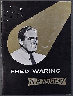 c1958 FRED WARING HI-FI-HOLIDAY Big Band Souvenir Concert Program