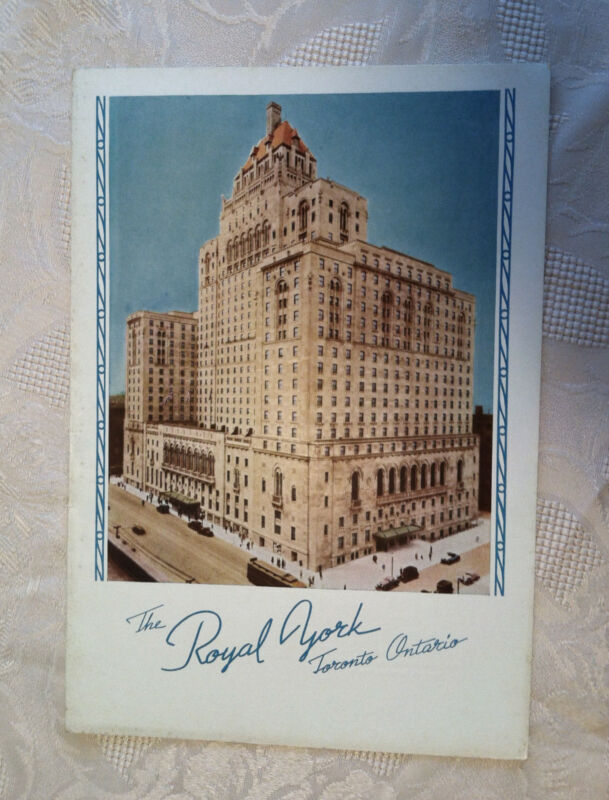 1939 Royal York Hotel Canadian Pacific Dining Car Menu Stamped