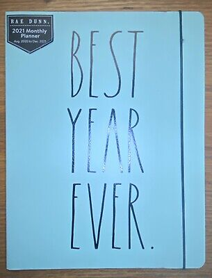 New Rae Dunn 2021 Best Year Ever - Greenblue - Organizer