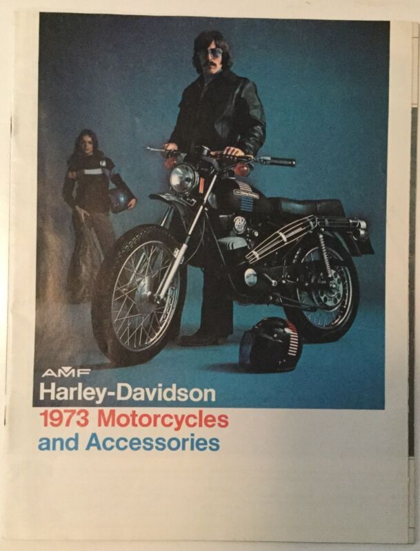 VINTAGE 1973 HARLEY DAVIDSON MOTORCYCLES AND ACCESSORIES CATALOG