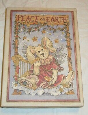 Boyds Bears & Friends Peace on Earth Christmas Cards - 18 Rabbit Cards Envelopes