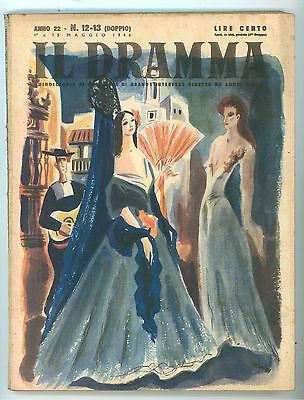IL DRAMMA 12-13 1946 COPERTINA MARIO POMPEI FEDERICO GARCIA LORCA MASSIMO GORKI