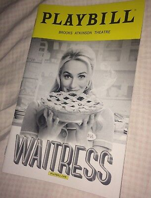 Waitress Broadway playbill with Betsy Wolfe  - FREE NEXT DAY SHIPPING