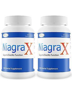2 NiagraX #1 Masculino Sexual Potenciador Rendimiento Pill Duro Largo Erección