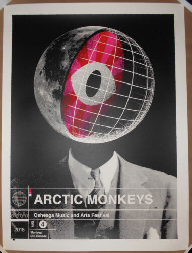 Arctic Monkeys 2018 Osheaga Festival Montreal Canada Poster Print DDL AP #/75