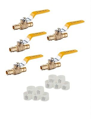 5 Pcs Propexpex-a Pipe Expansion 12 Brass Ball Valve 10 Pcs Expansion Rings