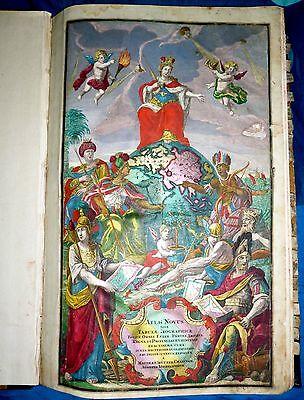 World Atlas, 1728, WIEN, MATTEO SEUTTER, 22 large hand colored maps, RARITY