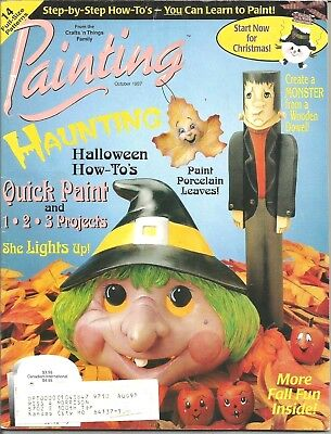 Painting Magazine October 1997 Craft & Decorative Painting - Halloween Ideas](Halloween Painting Ideas)