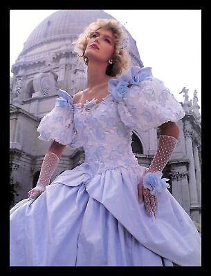 1988 Demetrios Sposabella Wedding Dress Gown Vintage PRINT IMAGES Marriage Bride