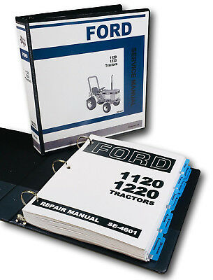Ford 1120 1220 Tractor Service Repair Shop Manual Technical New Oem Overhaul