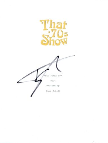 """Topher Grace Signed Autograph THAT 70'S SHOW """"Red Fired Up"""" Episode Script COA"""