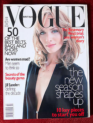Vogue British   February 1996   Amber Valletta  Liv Tyler  Kate Moss