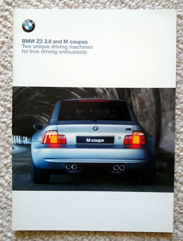 1999 2000 BMW Z3 & M COUPE SALES CATALOG BROCHURE NEW OLD STOCK ADVERTIZING