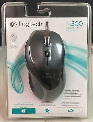 Logitech M500 Corded Mouse Three-Button/Scroll