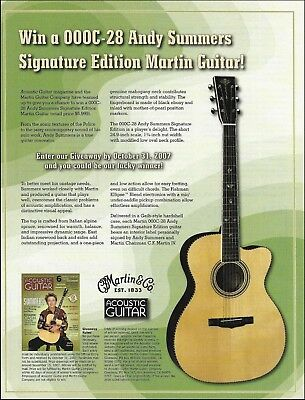 The Police Andy Summers Signature Martin 000C-28 guitar giveaway 8 x 11 ad print (Musical Instrument Giveaways)