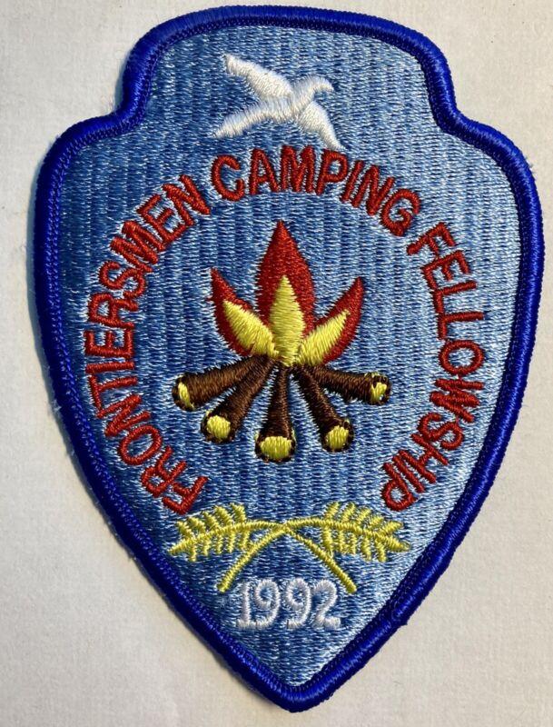 ROYAL RANGERS FCF 1992 Patch Frontiersman Camping Fellowship Partially Arrow