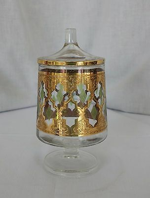 Vintage Culver Valencia pattern covered candy jar or urn