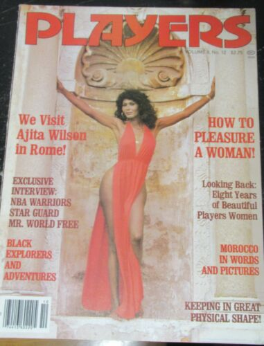 PLAYERS VOLUME 8 # 12 VINTAGE AFRICAN AMERICAN COLLECTABLE MAGAZINE
