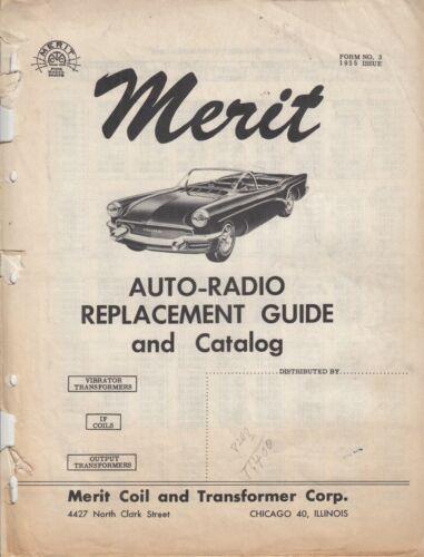 Vintage Merit Transformer Coil Transformer Vibrator - AUTO- Radio Catalog 1955
