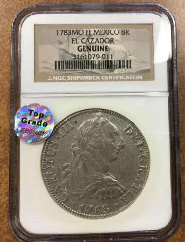 1783 Mo FF Mexico 8R EL Cazador NGC Genuine  TOP Grade sticker EB0 1401