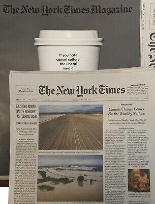 NYT New York Times Newspaper Sunday July 18 2021 + Style Magazine NEW UNREAD