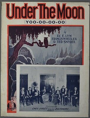 1927 UNDER THE MOON Lyn Wheeler Snyder CHET FROST & HIS BOSTONIANS WEEI Radio