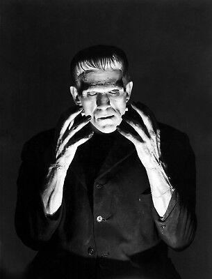 Boris Karloff Frankenstein Scary Halloween Poster Art Photo 11x14 16x20 20x24