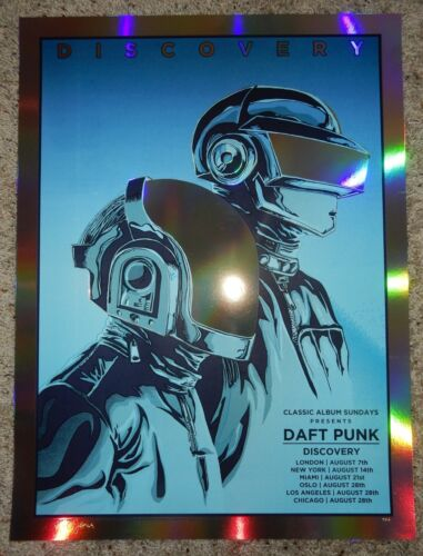 Daft Punk Poster FOIL Discovery 2018 A/P Signed by the Artist Tim Doyle