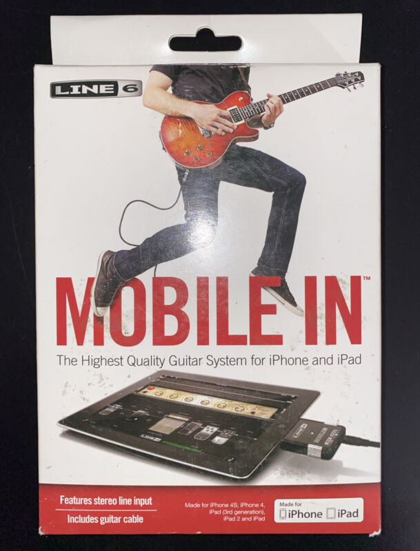 Line6 Mobile In  highest quality guitar system for iPhone and iPad  for 30 pin