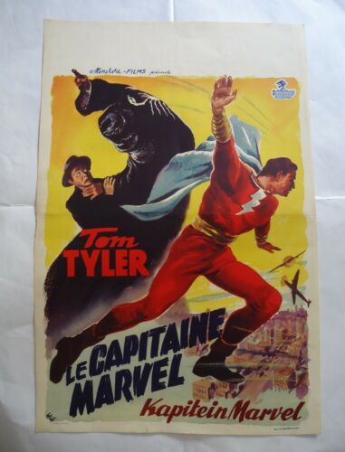 SERIAL /TOM TYLER/ CAPTAIN MARVEL /L16JU/ belgium poster