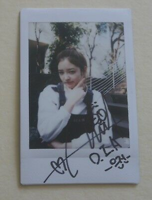 DIA Eunjin Official Autographed Signed Polaroid Photo Authentic from Album