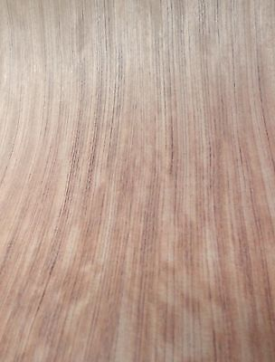 Bubinga Figured African Wood Veneer 48 X 96 On Paper Backer 140th Thickness