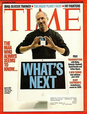"TIME Magazine October 24, 2005 -  ""What's Next?"" STEVE JOBS"