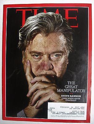 Time Magazine  Steve Bannon The Great Manipulator Feb 13  2017