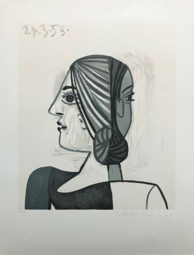 "Marina Pablo Picasso Estate ""tete"" | Hand Signed Print | Cubism | Make An Offer"