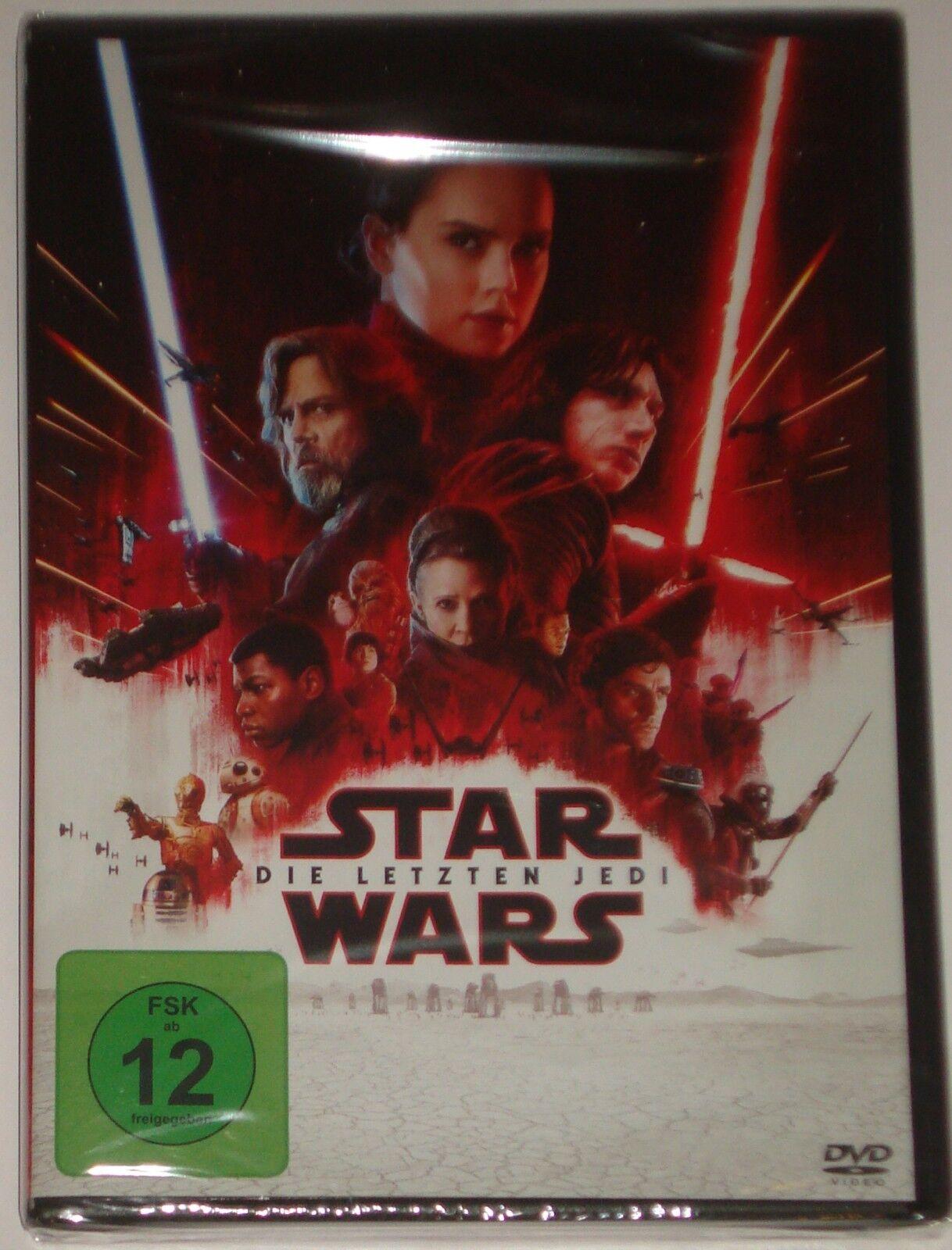 Star Wars: Episode VIII - Die letzten Jedi (DVD, 2018) NEU OVP
