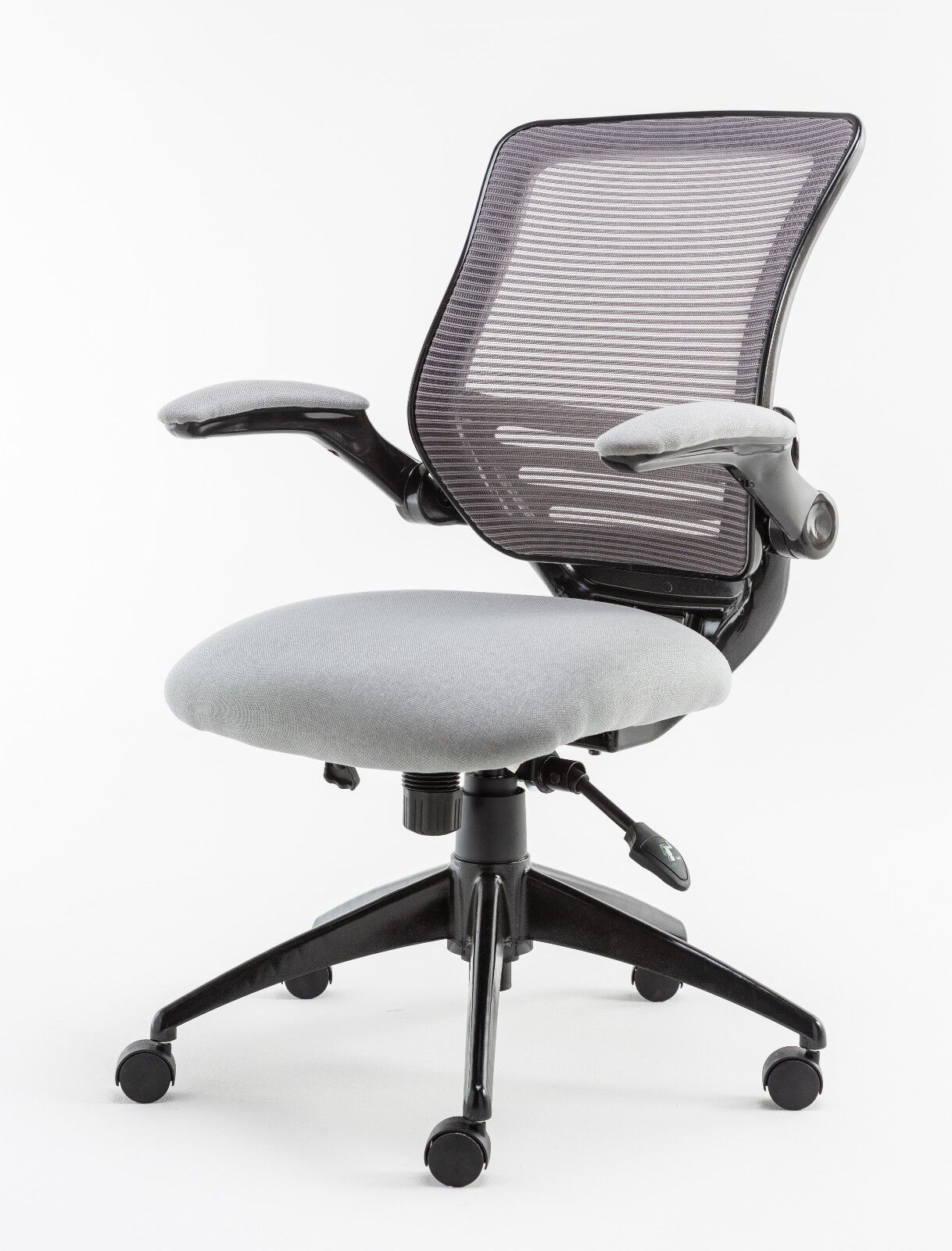 Image of: Stanford Grey Mesh Office Chair Operator Use Height Adjustable Tilt And Lift Ebay
