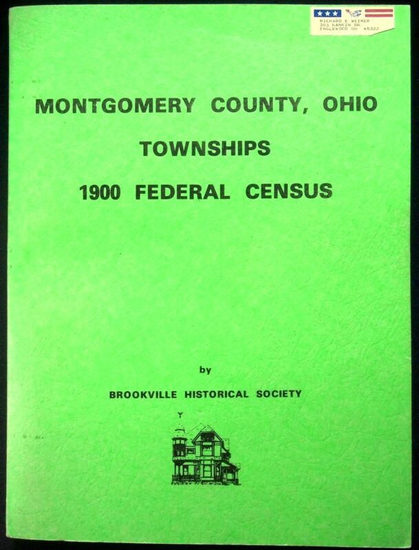 Montgomery County Ohio Townships Federal Census Genealogy Brookville Society