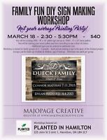 Family Fun Workshop! Register today!