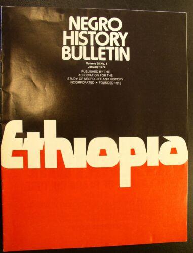 1972 Negro History Bulletin -EHTIOPIA Issue
