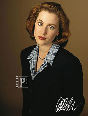 "Gillian Anderson 8""x 10"" Nice Signed Color PHOTO REPRINT"