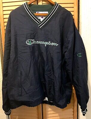 Vintage 90s Champion Logo Spellout Pullover Windbreaker Jacket Size Mens L