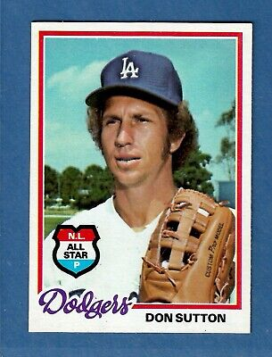 1978 Topps Don Sutton Los Angeles Dodgers #310 MINT & DEAD Centered! Los Angeles Dodgers Center