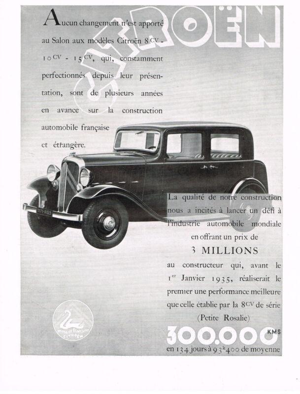1930s BIG Original Vintage Citroen Car Automobile Art Deco Print Ad